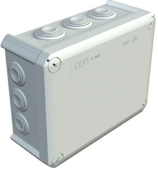 DOZA DE DERIVATIE T250 240x190x95 IP66