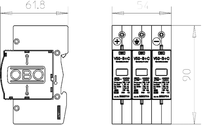 Dispozitiv Surgecontroler V20 3P QHSLRJSH6T90D0QB34BEME24 5093623 MZ1 1