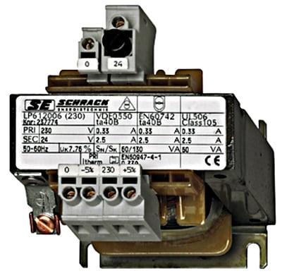 Transformator de comanda monofazat 230V/12V, 320 VA, IP00