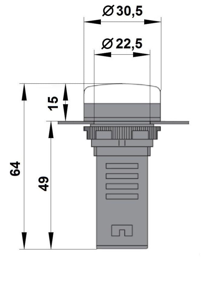 Led Monobloc 230V-Ac/Dc Albastru m bz501215 a