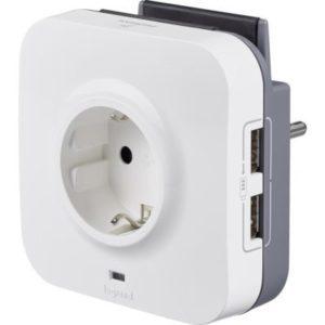 PRIZA CU INCARCATOR USB 2xUSB+SUPORT