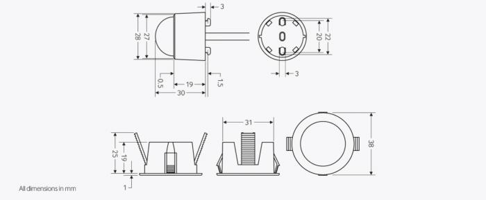Detector De Prezenta /Absenta Pir Cu Senzor La Nivel De Lux C / W (Psu) 73 presence detector ebmhs main 41