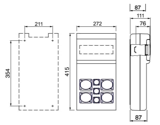 Tablou organizare santier Scame 14M 5xSchuko 16A + 1xIndustriala 16A + 1xIndustriala 32A BLOCK 5.1. precablat 1