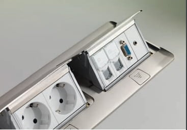 Doza popup 8 module neechipata finisaj aluminiu 054013 1