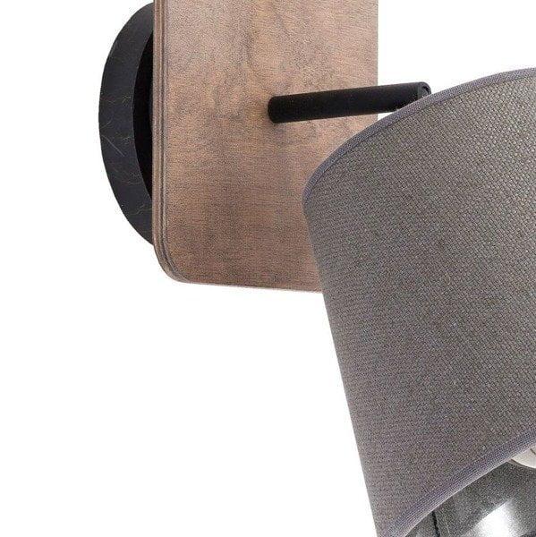 Aplica lemn/textil Nowodvorski Awinion 9718 ger pl Kinkiet sufitowa AWINION I drewno nowosc 9718 8410 1