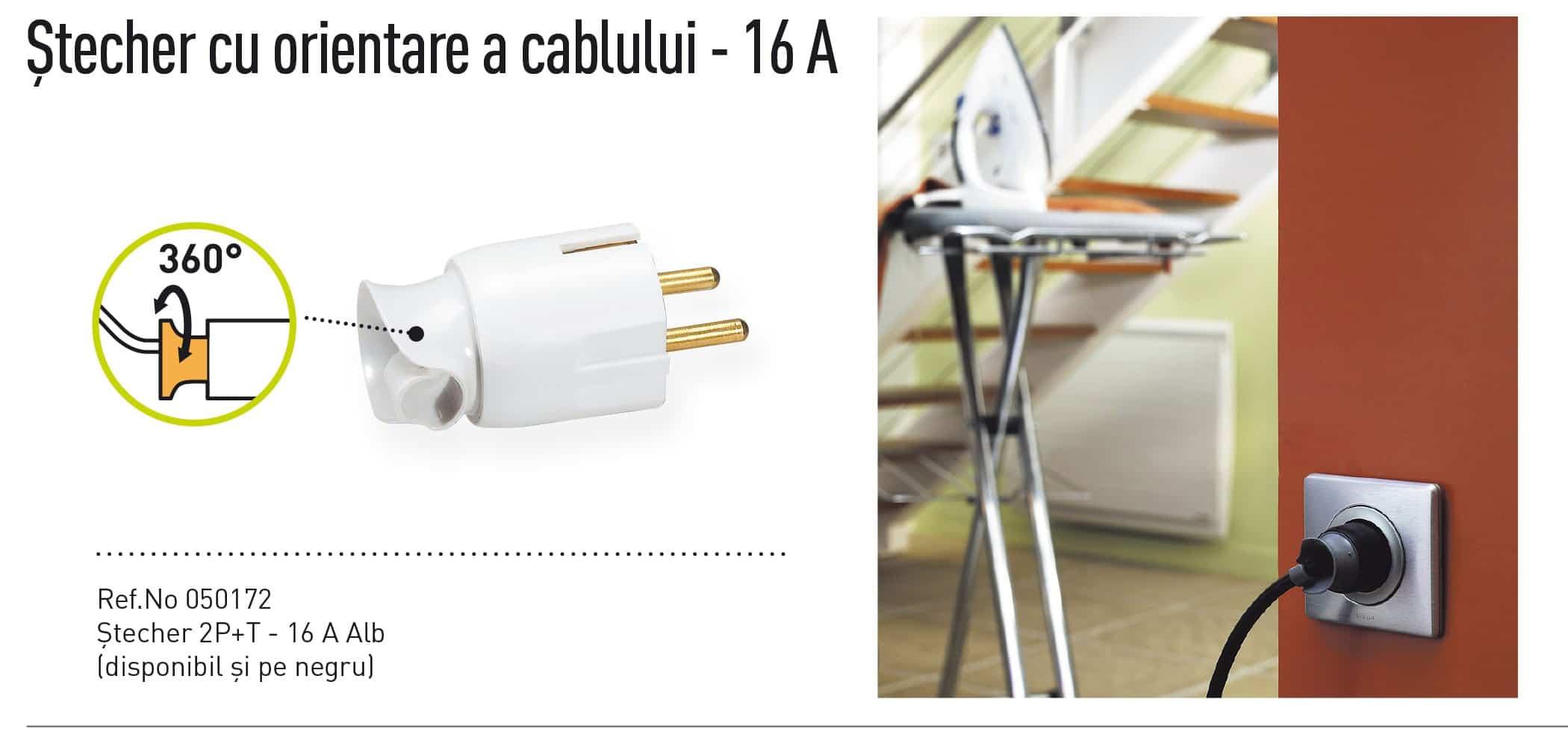 Stecher 16 Amperi, cu orientarea cablului